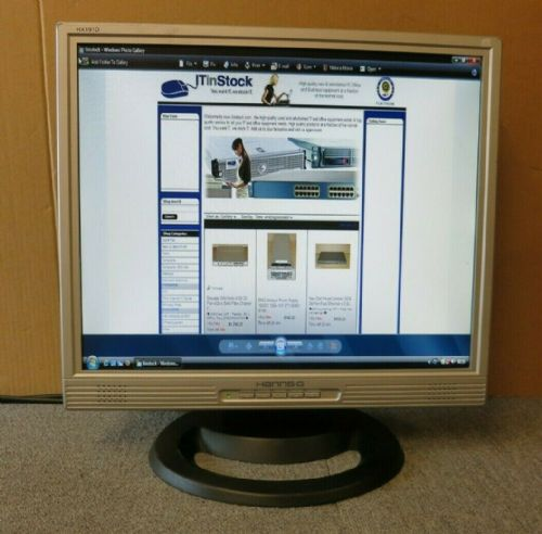 "Hanns.G HX191D HSG1028 Silver/Black 19"" LCD TFT Monitor Built-In Speaker VGA DVI"